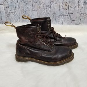 Dr Martens brown 8 eyelet boots size 10W 9M